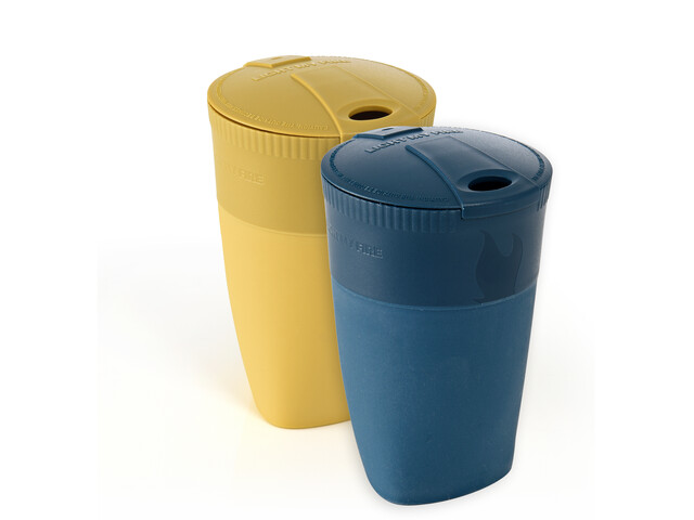 Light My Fire Pack-Up-Cup BIO 2 packs, mustyyellow/hazyblue